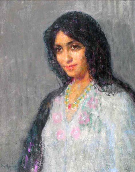 Hovsep Pushman, A  Girl of Barcelona