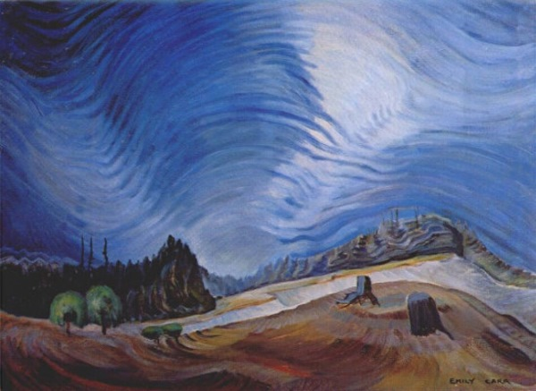 Emily carr above the gravel pit 1937 for Best painting images